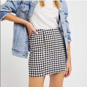 Free People Modern Femme Gingham Mini Skirt
